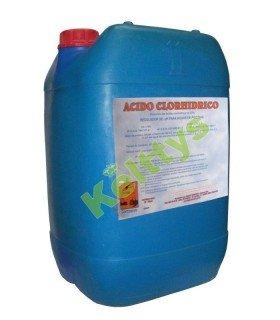 ACIDO CLORHIDRICO 33% Reductor del pH en aguas de piscinas (30 KILOS)