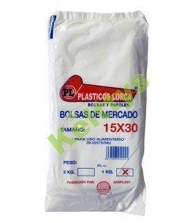 BOLSA ALIMENTARIA TRANSPARENTE 15X30 (1 KILO)