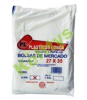 BOLSA ALIMENTARIA TRANSPARENTE 27X35 (2 KILOS)