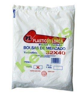 BOLSA ALIMENTARIA TRANSPARENTE 32X40 (2 KG)