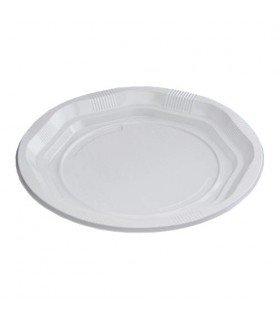Plato de plástico desechable de 17cm de diámetro