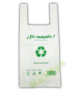 BOLSA CAMISETA BLANCA 35X50 70% RECICLADO (1 KILO)